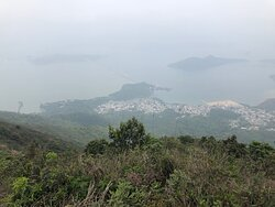 Wilson Trail Section #9 - Pat Sin Leng Country Park - views can be hampered by hazy sky conditions