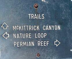 McKittrick Canyon Trail sign