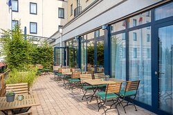 Terrace where guests can meet friends or have informal meetings.