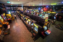 Huge hall with classic games collection