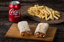 COMBO - Beef Shawarma + Side + Beverage