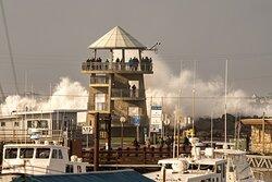 King Tide Waves hit Westport.