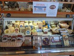 A fine selection of cheeses at Etto Pastificio.