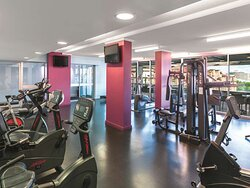 Interior view of gym with equipment