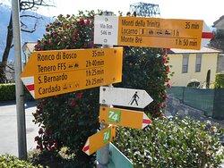 signpost at 'Via Eco'