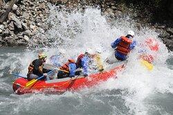 Getting wet at Photo Rock! - Apex Rafting, Revelstoke BC