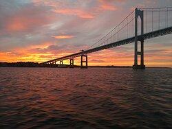 Newport Bridge on a Sunset Sail!  Breathtaking!