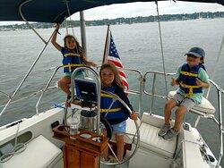 Kids love taking the helm!