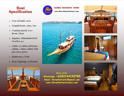 Luxury Phinisi Boat. Capacity 12 Persons.
