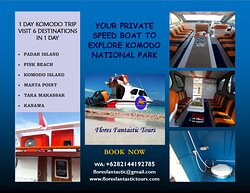 Your Private Speed Boat to Explore Komodo National Park. Capacity 12 Persons.