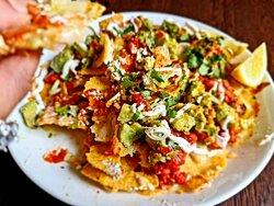 Nachos sharing platter