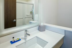 Guest room bathroom with standing shower