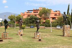 Outdoor Statue Museum Santiago de Santiago - statues in a park by the sea!