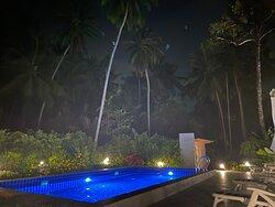 Amazing night swimming