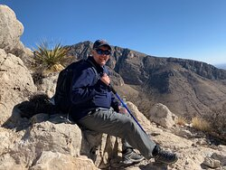 Me taking a break at the top of little Guadalupe