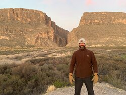 Kent in front of the canyon