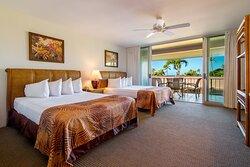1 Bedroom Partial Ocean View with 2 Queens