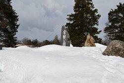 雪景色の常盤公園