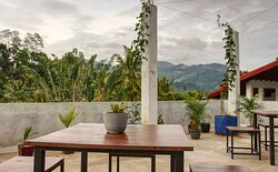 Rooftop with mountain view
