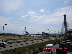 屋上展望台から比美之江大橋
