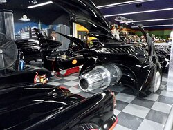 An amazing collection of Batmas cars and props.