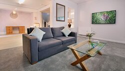 Spacious lounge in The Burrow, self-catering house sleeps 6