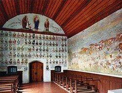 Schlachtkapelle Sempach / Chapelle de la bataille de Sempach (fresque de la bataille et armoiries) - Sempach (LU)