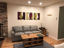 Sample one bedroom living area
