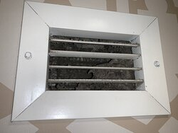 Dirty air vent in the bathroom