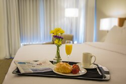 Enjoy breakfast in bed with our room service options