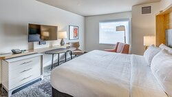 Watch planes from your King room 0.1 miles from Bellingham Airport