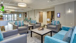 Our clean lobby here at Holiday Inn & Suites Bellingham