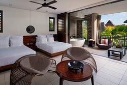 2 Double Beds Garden View - Top Floor