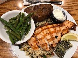 Mediterranean salmon with couscous