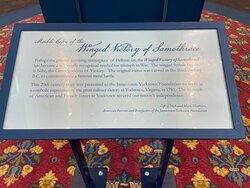 American Revolution Museum at Yorktown Lobby Info on Statue