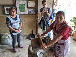 Grinding coffee, the old old-school way