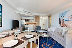 City View Suite - Living and Dining Area