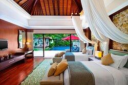 Two Bedroom Lagoon Villa - Two Twin Bedroom