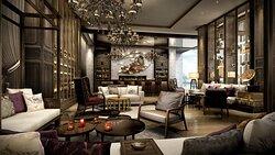 Hotel Rendering - Lobby Lounge