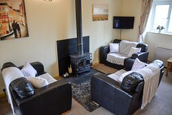 Lovely lounge at Fowey Cottage