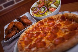 Pepperoni and wings