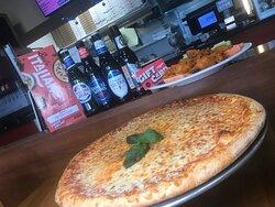 Cheese pizza at Deli Italiano