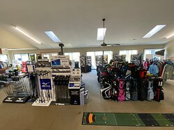 Our clubhouse is full of new and used golf clubs, golf bags, golf balls, accessories, and apparel.