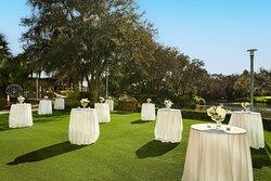 Cascades Lawn - Reception Setup