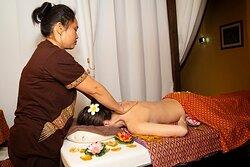 Traditional thai oil massage