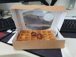 Belgická waffle s Ferrero Rocher