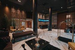 Lobby de Soho Suites, entrada principal.