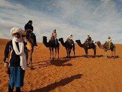 Viaje en camellos.
