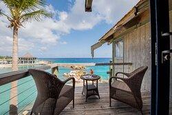 Oceanfront Blues room's balcony