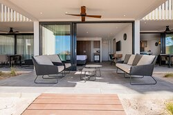 3-bedroom Beachfront Apartment's terrace with direct access to Avila's private beach
